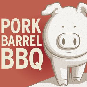 Logo for pork barrelll BBQ
