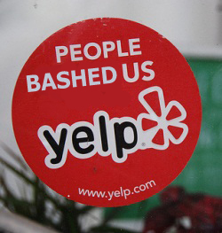 People bashed us on Yelp