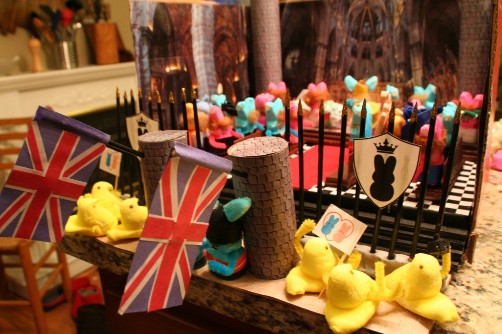 peeps diorama outside view