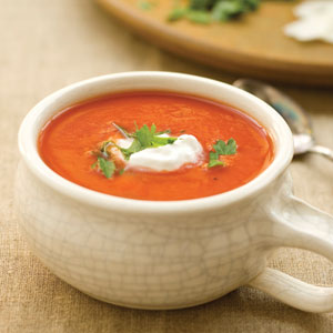 bowl of homemade tomato soup