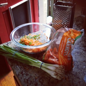 carrot peanut noodles